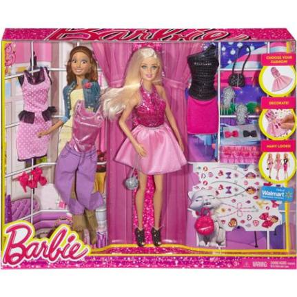 2014 Barbie Fashion Activity Gift Set - Walmart