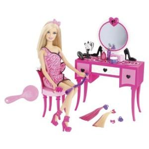 2014 Barbie Hair-tastic Vanity with Doll