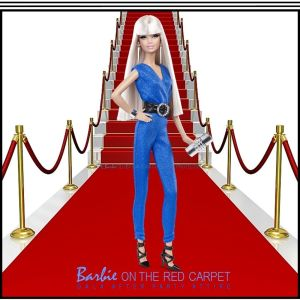 2014 Barbie Look RED CARPET Collection Doll & Blue Jumpsuit #BCP90