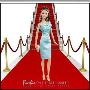 2014 Barbie Look RED CARPET Collection Doll & Green Cocktail Dress #BCP88