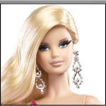 2014 Barbie Look RED CARPET Collection Doll & Pink Gown Ensemble #BCP89 face