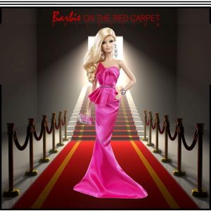 2014 Barbie Look RED CARPET Collection Doll & Pink Gown Ensemble #BCP89