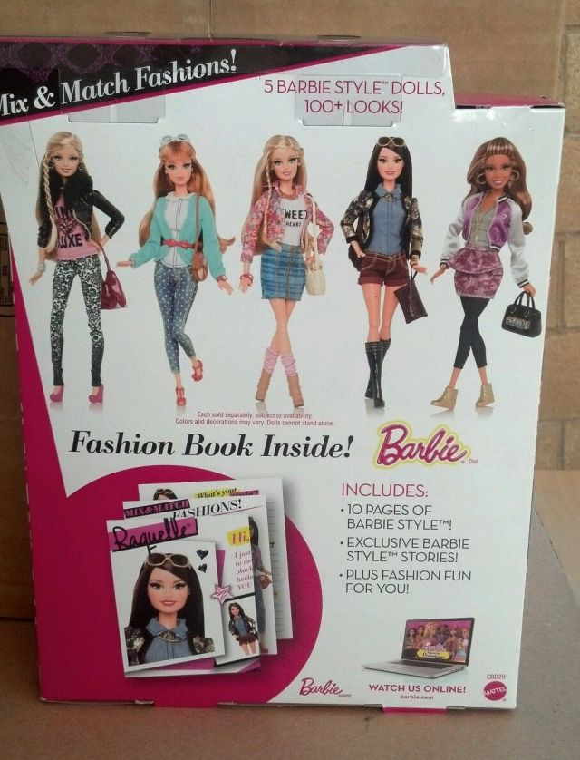 2014 BARBIE STYLE  METALLIC back box