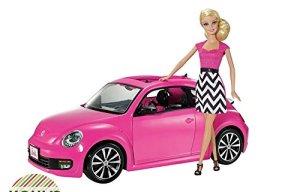 2014 Barbie Volkswagen the Beetle & Doll Pinktastic! f