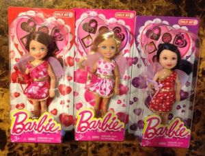 2014 EXCLUSIVE BARBIE VALENTINE'S DAY KELLY AND FRIENDS DOLLS