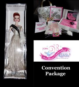 2014 Grant A Wish Silkstone Convention Barbie Doll complete set
