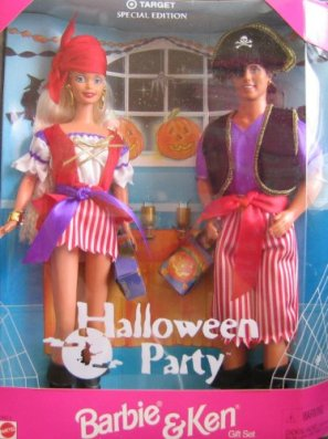 2014 Halloween Party Barbie and Ken