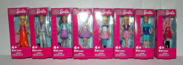 2014 Mega Bloks Barbie (80260) Set of 8 Minifigures.