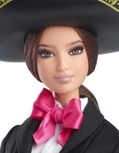 2014 Mexico Barbie Doll Of The World face