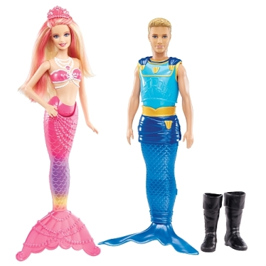 2014 Pearl Princess Mermaid and Prince Dolls