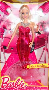 2014 PINK & FABULOUS LONG EVENING GOWN BARBIE DOLL #2