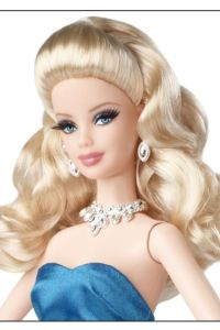 2014 Red Carpet™Barbie® Doll Blue gown face