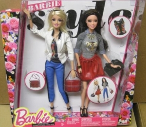 2014 Style Barbie and Raquelle.