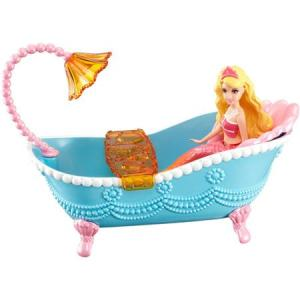 Barbie in the Pearl Princess Small Doll Blonde Mermaid with Furniture f