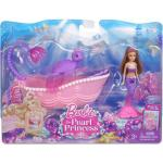 Barbie in the Pearl Princess Small Doll Brunette Mermaid with Furniture