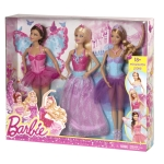 BARBIE® 3-Doll Fairytale Giftset NRFB