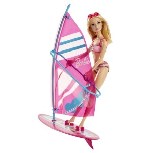 BARBIE® BEACH DOLL AND WINDSURFER