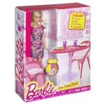 BARBIE® Doll and Dining Set b