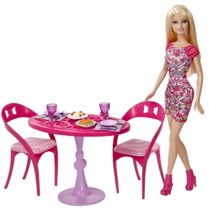 BARBIE® Doll and Dining Set fl b