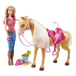 BARBIE® doll and TAWNY™ Horse flyer
