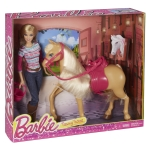 BARBIE® Doll & TAWNY™ Horse NRFB