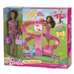 BARBIE® SLIDE & SPIN PUPS!™ Playset NRFB
