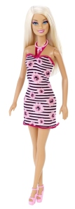 BARBIE™ DOLL-Pink and Black Party Dress 1