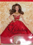 Brunette Holiday Barbie Collector 2014