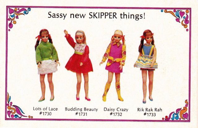 c1969 Living Barbie As full of life as you are - Sassey New Skipper things! #1700 serie
