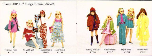 c1970 Living Barbie and Skipper - Claasy Skipper things for fun, forever. #1700 serie