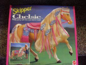 Chelsie Pony - Skippers Horse. Mattel 1992.
