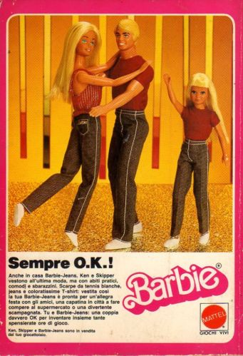 Q5 Pubblicità Advertising Werbung 1982 Ken Skipper e Barbie-Jeans Mattel
