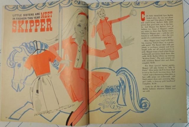MATTEL BARBIE Fan Club MAGAZINE May-June 1964 MEET SKIPPER! art