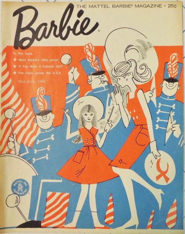 MATTEL BARBIE Fan Club MAGAZINE May-June 1964 MEET SKIPPER!