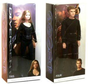 Movie Tris and Four Barbie Dolls