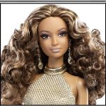 New 2014 Barbie Look RED CARPET Collection Doll & Gold Gown Ensemble #BCP87 face
