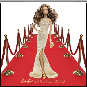 New 2014 Barbie Look RED CARPET Collection Doll & Gold Gown Ensemble #BCP87