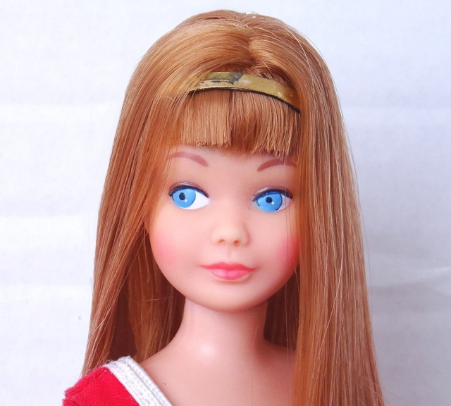 Redhead Titian Re-Issue Vintage Straight Leg Skipper Doll face