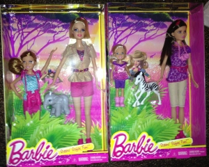 SISTERS' SAFARI FUN Barbie & Stacie + Skipper & Chelsea Dolls MIB (2)