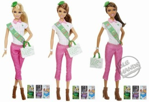Toy Fair 2014 Mattel Barbie Loves Girl Scouts Assortment