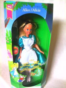 WALT DISNEY EXCLUSIVE ALICE IN WONDERLAND BARBIE SKIPPER SIZE DOLL