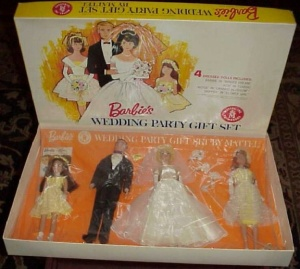 Barbie Gift Set with Skipper doll in #1904 Flower Girl