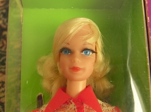 1115~Talking Barbie (Stacey head mold)~1969, blonde - Close up Head
