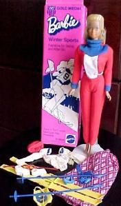 1975 #9042 Sears  Exclusive Gold Medal Barbie - Winter Sports MIB