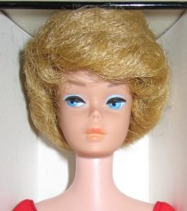 1963 Bubble Cut Blonde NRFB close up