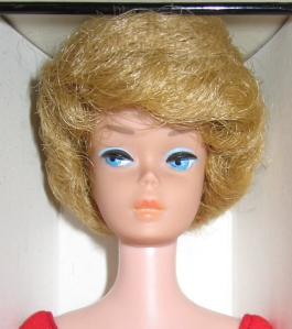 1963 Bubble Cut Blonde NRFB close up