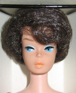1963 Bubble Cut Brunette NRFB close up