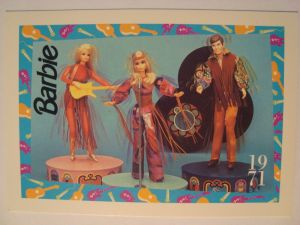 1971 Live Action Barbie & Ken & PJ card