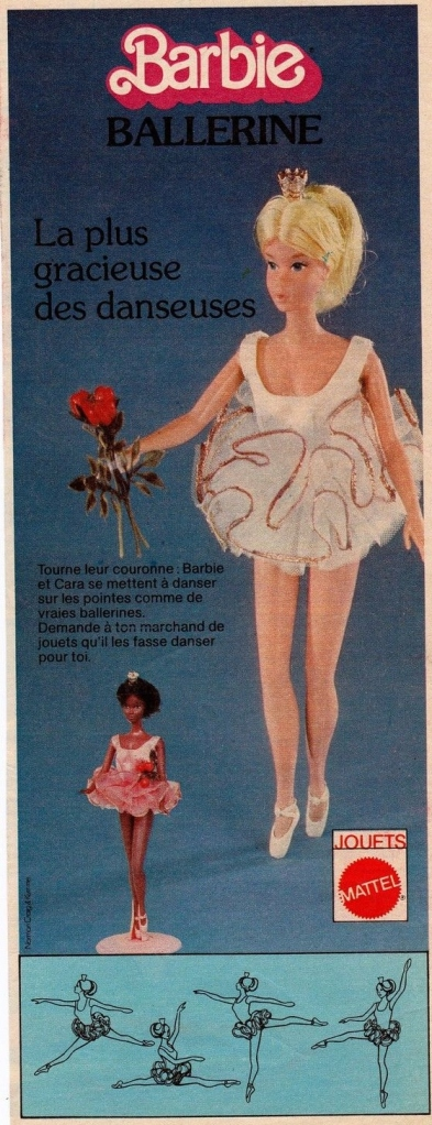 1976 publicité Ballerina Barbie and Cara - France