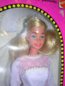 1978 BASA PERU SuperStar BARBIE Bride NRFB - close up